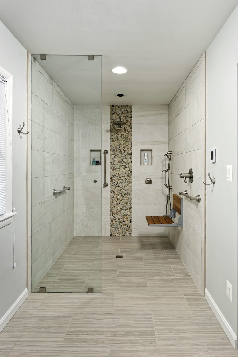 ADA masterbath shower-Adroit Design Remodeling MD and VA