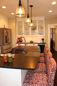 Pendant lighting over kitchen island Frederick MD