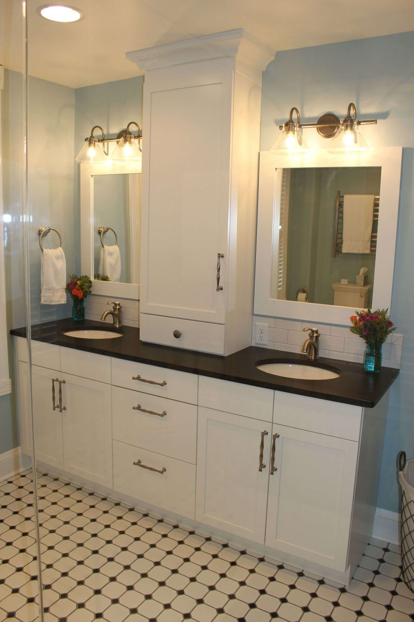 Master bath double sink vanity Frederick MD